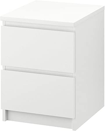 Ikea Malm Kommode Mit 2 Schubladen Weiss 40 X 55 Cm Amazon De Kuche Haushalt