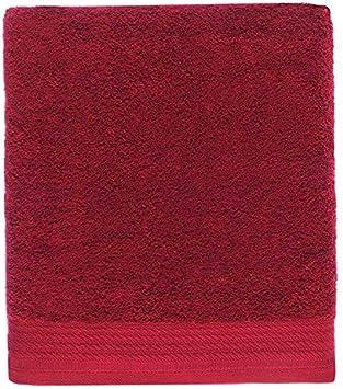 Ajuar rizo Toalla de baño 100% algodón Peinado 600 gr. Granate (Alfombra de baño 50 x 70 cm): Amazon.es: Hogar