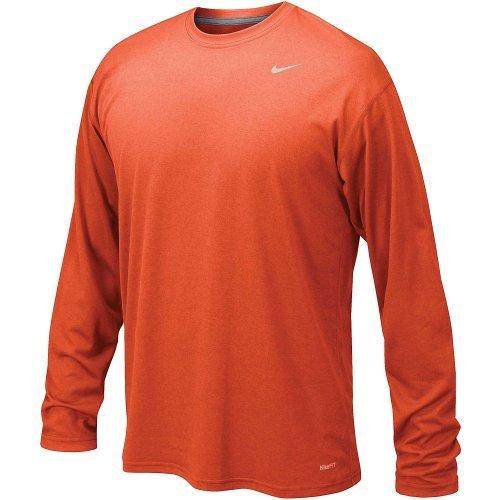 (Nike Men's Legend Long Sleeve Tee, University Orange, S)