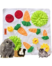 """Tokihut Rabbit Foraging Mat - Large 25"""" x 25"""" Boredom Breaker Enrichment Snuffle Mat Toy Bed for Rabbits, Guinea Pigs, Chinchillas, Ferrets, Small Animals, Dogs"""