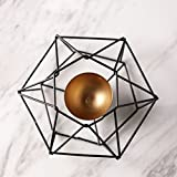 JiaQi modern Candle holder,Iron Line Candlestick holders Simple geometry Candle holder decoration furnishings cafe restaurant Decoration-F