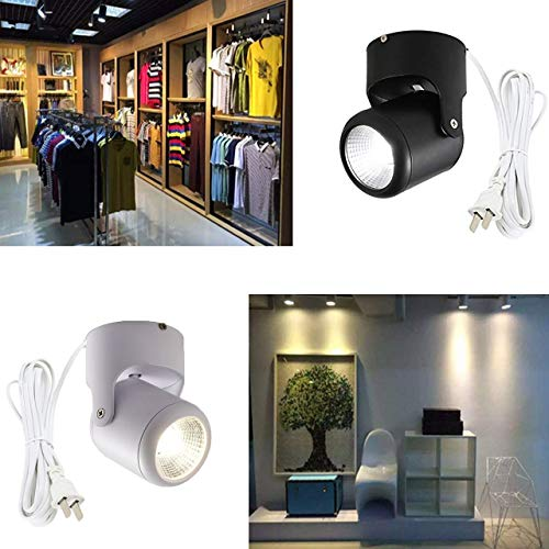 ANYE High Accent Uplight 9W LED Spotlight 3000K Warm Light Decorative Light Adjustable Black Body 5.9ft Cord for Loft Gallery Exhibition by ANYE (Image #2)