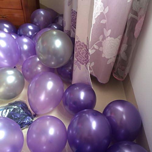 """Perlado /& Metálico 10/"""" X 50 Ballons Látex-Color Rosa Y Púrpura Mix Decoración"""