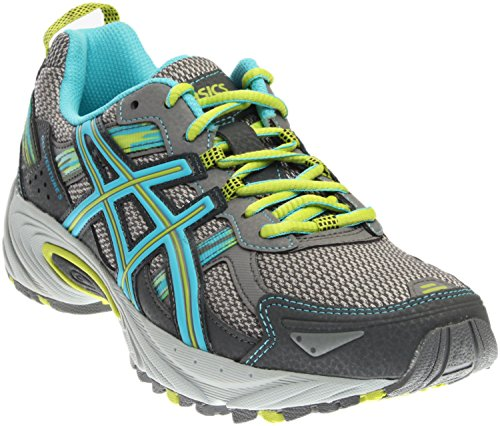 ASICS Women's Gel-Venture 5 Running Shoe, Silver Grey/Turquoise/Lime Punch, 10 D US