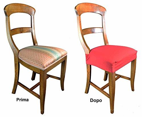 Casa tessile antimacchia coppia di copri seduta per sedia