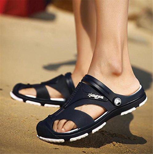 NSLXIE Tamaño Dedo eu43 Playa 39 de Sandalias Zapatos Verano Antideslizantes a Cerrado de Chanclas Hombre de EU41 Blue Chanclas Ocasionales 44 x0RnrRq6w