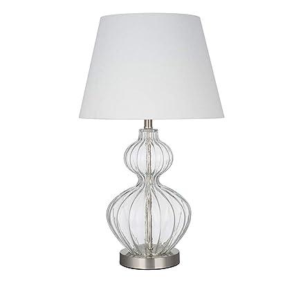 Amazon.com: Ravenna Home - Lámpara de mesa (cristal ámbar ...