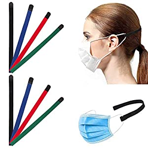 [Nylon Velcro]Reggi Elastico Mascherina Xl[4 Colore][8 Pezzi][Confortevole]Kardition Laccio Gancio Mascherina[Anti-Skid… 51DLZY3pCiL. SS300