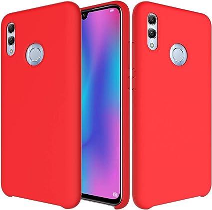 CoverTpu Funda Huawei Honor 10 Lite Silicona, Rojo Funda Líquido ...