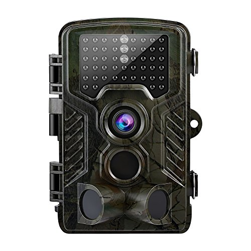 YKS Hunting Trail Game Camera, Motion Activated Trailcam with 3 Pir Sensors, Time Lapse 2.4 Inch LCD, Low Glow 46pcs Leds, 12MP, 1080p HD Infrared Night Vision IP56