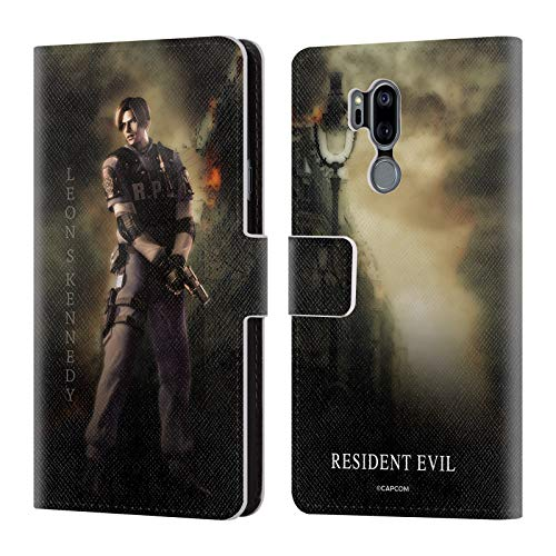 Official Resident Evil Leon S. Kennedy Operation Raccoon City 2 Leather Book Wallet Case Cover for LG G7 ThinQ (Resident Evil Operation Raccoon City Best Character)