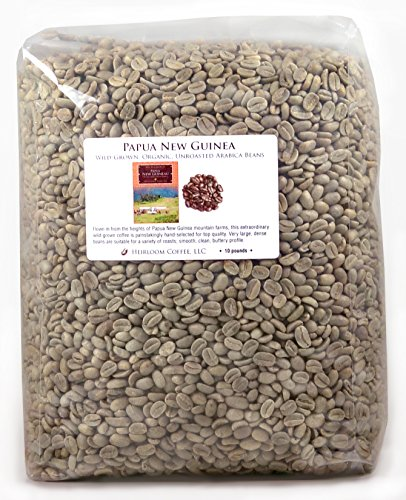 Papua New Guinea Organic Wild-grown Unroasted Green Coffee Beans (10 lb)