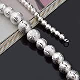 Culturemart Korean Fashion Silver Color Lucky Beads Nice Long Necklace for Women Men Vintage Cute 18 inch with Lobster Clip
