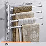 Bathroom Shelves - Space Aluminum Bathroom Towel Rack Free Punching Rotating Bar Suction Wall Hanging Activity Toilet - Basket Wood Toilet Suction Brown In Sink Of Accessories Clear
