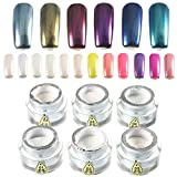 6 Colors Magic Mirror Chrome Pearl Shell Luster Powder Dust Decorations Glitter Pigment
