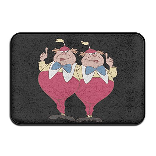 Tweedle Dum And Dee Alice In Wonderland Fashion Carpet Floor Mat Unique Collection 16