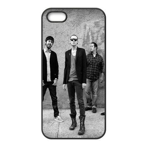 Linkin Park Band Members Look Wall 2692 coque iPhone 5 5S cellulaire cas coque de téléphone cas téléphone cellulaire noir couvercle EOKXLLNCD25570