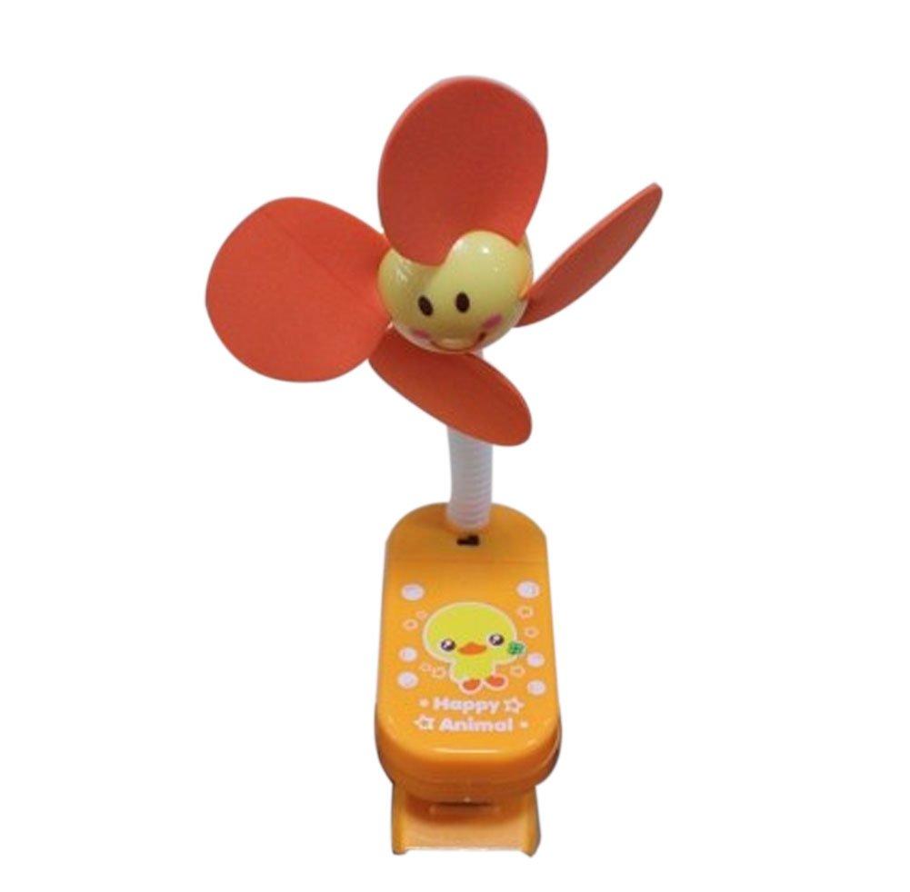 Blancho Noiseless Mini Clip-On Fan, Bear Shape(Orange) Blancho Bedding