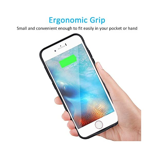 size 40 03c4a 0e4d2 7200 mAh Battery Case for iPhone 6S Plus/6 Plus, Vproof Rechargeable  External Battery Portable Power Charger Protective Charging Case for Apple  iPhone ...