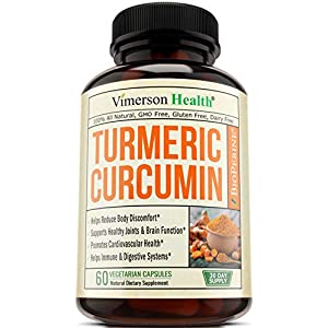 Turmeric Curcumin with Bioperine Joint Pain Relief – Anti-Inflammatory, Antioxidant Supplement with 10mg of Black Pepper for Better Absorption. Best Natural Non-GMO,…