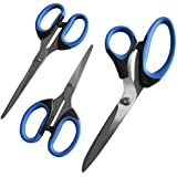 OfficeGoods 3 Piece Scissor Set for the Home & Office - High Quality All Purpose Scissors with Large Soft Handles Designed for Your Comfort