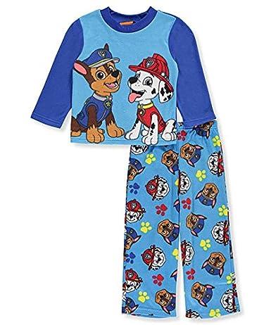 Paw Patrol Boys Long Sleeve Pajama Top 2pc Set Blue 4