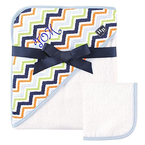 Personalized Baby Hooded Towel -Ultra Soft and Super Absorbent Baby Hooded Bath Towel with A Free Monogram/Name Embroidered | Ideal for Baby Shower Gift (Multicolored)