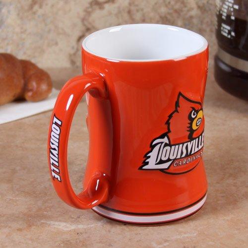 - Boelter Brands NCAA Louisville Cardinals Coffee Mug14oz Sculpted Relief, Team Color, 14 Ounce