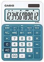 Casio MS-20NC-BU Calculadora, 12 Dígitos, Dos Modos de Alimentación, Solar y Batería, azul
