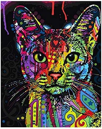 DIY oil painting フレームレスカラフルなライオン動物要旨は数字現代ウォールアート画像にて絵画DIYのデジタル絵画 (Color : 99029, Size (Inch) : 40x50cm no frame)