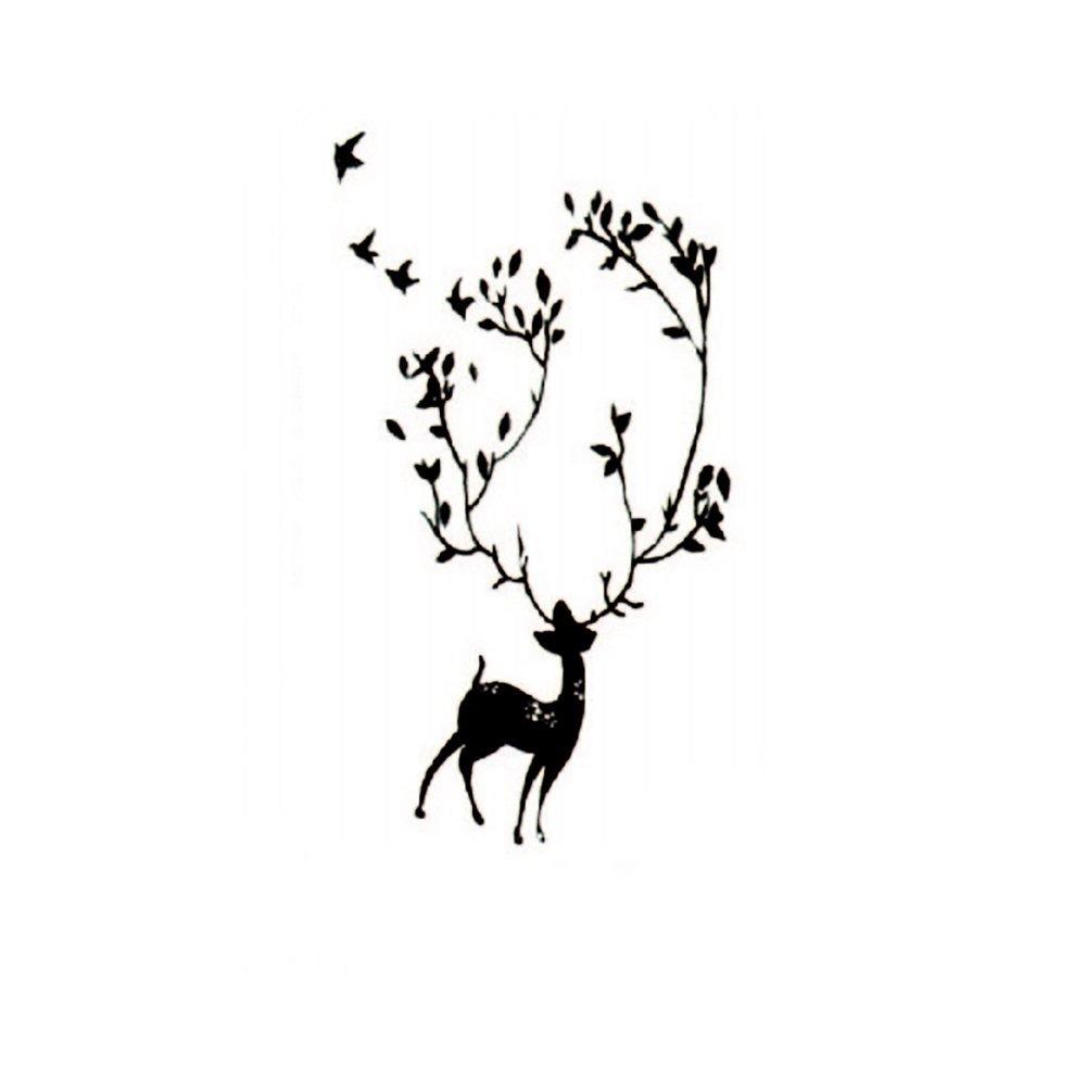 LovingIn Wild Deer,In The Woods Wildlife Animal Stickers Wall Decals Children Bedroom Decor
