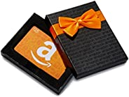"""Amazon.ca Gift Card in a Black Gift Box - """"A"""" S"""