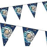 Guirlande de fanions * astronaute Flo *//anniversaires d'enfants Enfants Fêtes d'anniversaire Party Ensemble de Devise Party Décoration Lave-vaisselle Devise Décoration Espace Space Alien vaisseau spatial Guirlande Bannière paartykette