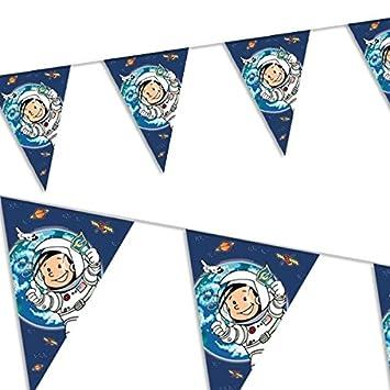 banderines astronaut flo juego de de cumpleaos fiesta temtica vajilla