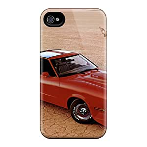 Tpu Case Cover Compatible For Iphone 4/4s/ Hot Case/ 1978 Ford Mustang King Cobra T Roof