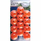 Intech Practice Balls with holes, 12 Pack