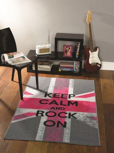 Decoration london rose et gris for Tapis de cuisine rose et gris