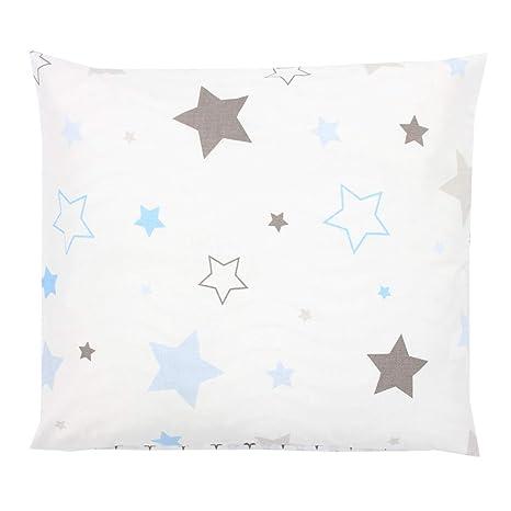 TupTam Funda para Cojin con Diseño Decorativo para Niños, Estrellas Gris/Azul, 80x80 cm