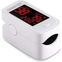 T 4 en1 Oxímetro de Pulso de Dedo, Oxímetro De Pulso,oximetros de Dedo, frecuencia respiratoria con Pantalla OLED, Oxigenación Sangre y Frecuencia Corazón Operación con un Solo botón