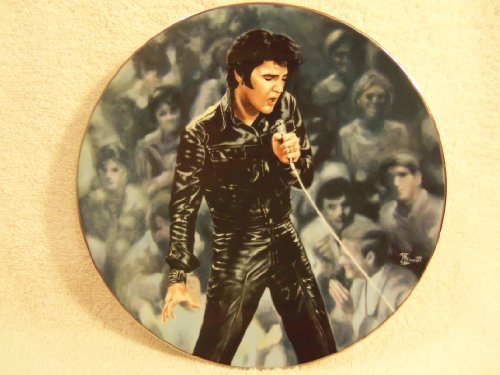 "Elvis Presley "" '68 Comeback Special"" Collectible Plate by Delphi 1990 First Issue Limited Edition ""I'm All Shook Up"""