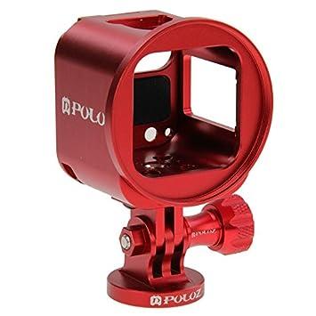 Carcasa PULUZ CNC para cámara GoPro , para GoPro Session, HERO5 Session, GoPro HERO4 Session, color Red