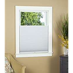 "Blackout Top Down Bottom Up Cordless Cellular Shade:Size 31"" W x 64"" L - Color: White"