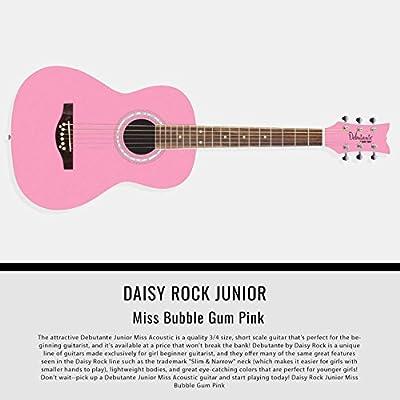 Daisy Rock Debutante - Guitarra acústica con guitarra para perros ...