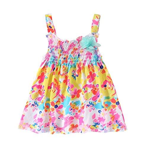 UWESPRIGN Baby Grils' Sling Floral Printed Dresses For 0-24M Toddlers (Grils Clothes)