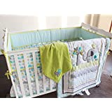 New Baby Safari Elephant 8pcs Crib Bedding Set