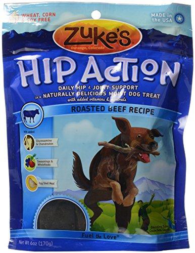 ZUKE'S HIP ACTION,DOG,RSTD BEEF, 6 OZ