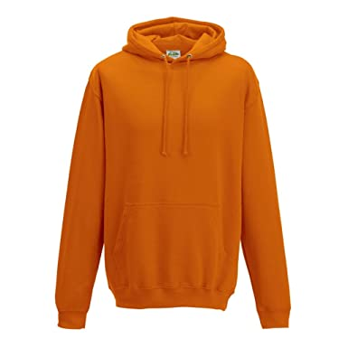 d1f1854f Image Unavailable. Image not available for. Colour: Orange Crush Coloured AWDIS  College Hoodie