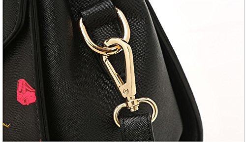 Handbag Summer Atmosphere Wine Bag Backpack Wild Oblique White Ladies The red Color of Version of Korean Tide Shoulder Black Ladies The Fashion qCB58w