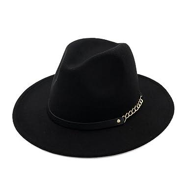 0c00cfa251557 Women Girls Fashion Autumn Winter Retro Jazz Hat Trilby Hat Black   Amazon.co.uk  Clothing