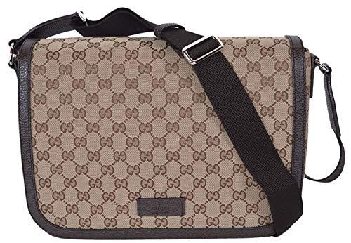 7c4f816c6370 Gucci GG Guccissima Canvas Large Crossbody Messenger Bag (449171/Beige)